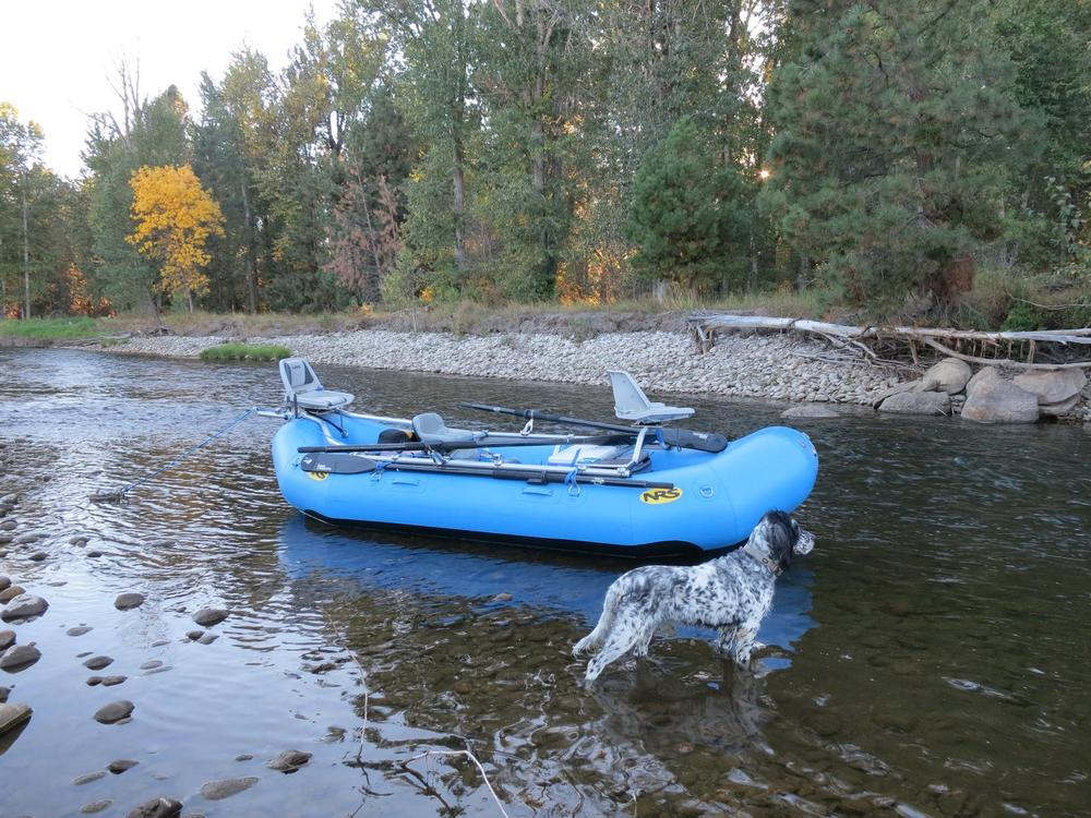 Bitterroot rafting adventures the nrs 14 39 otter for Fly fishing raft