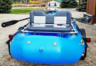 NRS 14` configured with a padded bench seat with full back support. - Bitterroot Rafting Adventures Fishing Raft Scenic Floating Confort