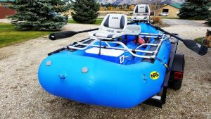 NRS 14` configured with two swivel fishing seats - Bitterroot Rafting Adventures Fishing Raft Scenic Floating Confort